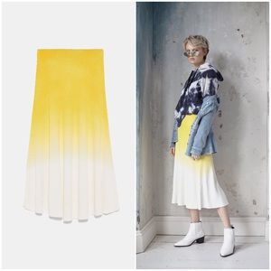 Ombré Knit A line Ribbed Skirt